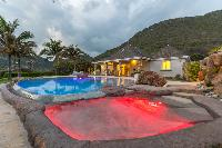 fun poolside of Saint Barth Villa La Roche Dans l'Eau luxury holiday home, vacation rental