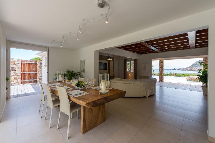 cool dining area in Saint Barth Villa La Roche Dans l'Eau luxury holiday home, vacation rental
