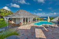 amazing sea view from Saint Barth Villa Lagon Bleu luxury holiday home, vacation rental