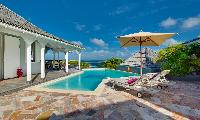 cool swimming pool of Saint Barth Villa Lagon Bleu luxury holiday home, vacation rental