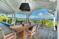 awesome sea view from Saint Barth Villa Lagon Bleu luxury holiday home, vacation rental