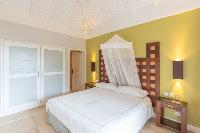clean bedroom linens in Saint Barth Villa Lagon Jaune luxury holiday home, vacation rental