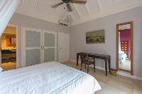 pristine bedding in Saint Barth Villa Lagon Jaune luxury holiday home, vacation rental