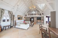 pleasant living room of Saint Barth Villa Lagon Jaune luxury holiday home, vacation rental