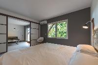 fresh bed sheets in Saint Barth Villa Lagon Jaune luxury holiday home, vacation rental