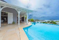cool swimming pool of Saint Barth Villa Lagon Jaune luxury holiday home, vacation rental