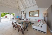 pleasant dining area in Saint Barth Villa Lagon Jaune luxury holiday home, vacation rental