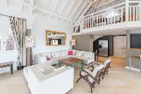 cool multilevel Saint Barth Villa Lagon Jaune luxury holiday home, vacation rental