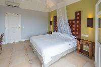 fresh bedroom linens in Saint Barth Villa Lagon Jaune luxury holiday home, vacation rental