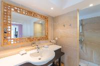 neat bathroom in Saint Barth Villa Lagon Jaune luxury holiday home, vacation rental