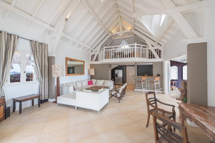 pleasant living room of Saint Barth Villa Lagon Jaune luxury holiday home, vacation rental