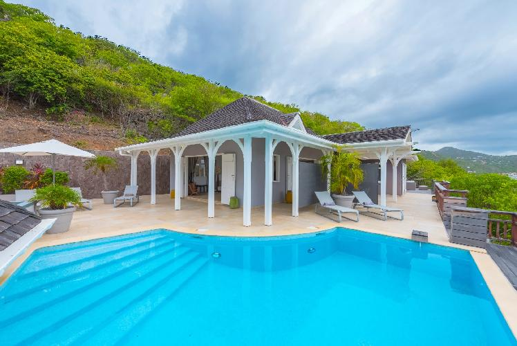 beautiful sea view from Saint Barth Villa Lagon Jaune luxury holiday home, vacation rental