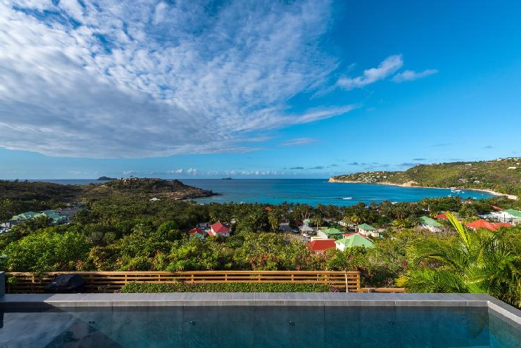 cool sea view from Saint Barth Villa Nita luxury holiday home, vacation rental