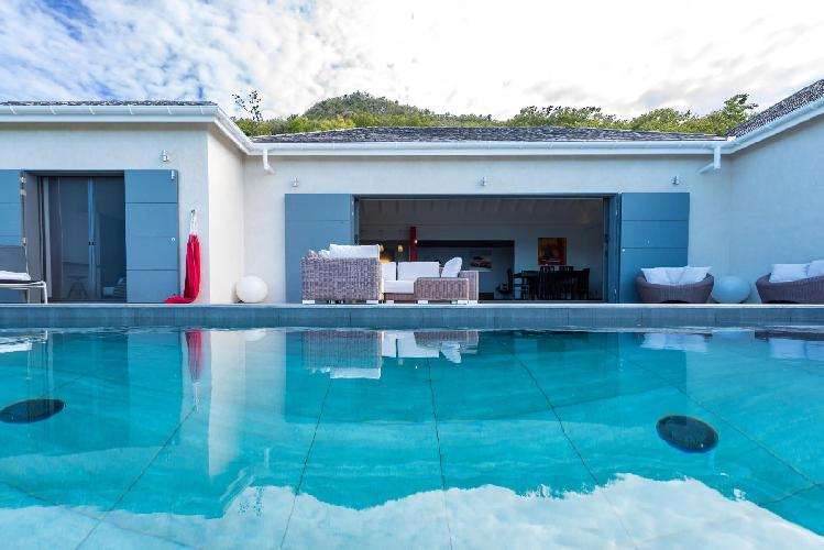 cool swimming pool of Saint Barth Villa Nita luxury holiday home, vacation rental