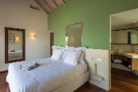 fresh bedroom linens in Saint Barth Villa Wine Note luxury holiday home, vacation rental