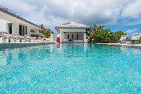 cool swimming pool of Saint Barth Villa Wine Note luxury holiday home, vacation rental