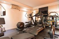 cool gym in Saint Barth Villa Wine Note luxury holiday home, vacation rental
