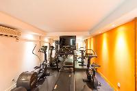 cool fitness room in Saint Barth Villa Wine Note luxury holiday home, vacation rental