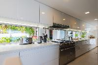 modern kitchen appliances in Saint Barth Villa Wine Note luxury holiday home, vacation rental