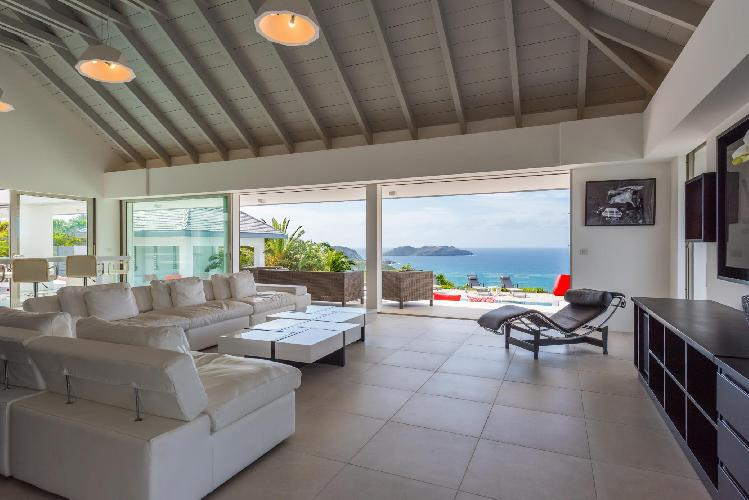 beautiful sea view from Saint Barth Villa Wine Note luxury holiday home, vacation rental