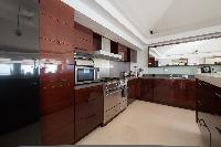 swanky kitchen of Saint Barth Villa Gouverneur Dream luxury holiday home, vacation rental