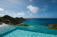 cool infinity pool of Saint Barth Villa Gouverneur Dream luxury holiday home, vacation rental