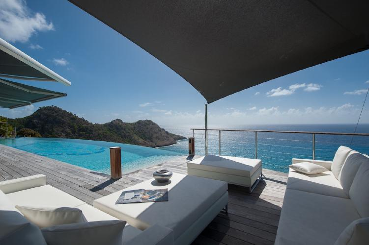beautiful sea view from Saint Barth Villa Gouverneur Dream luxury holiday home, vacation rental