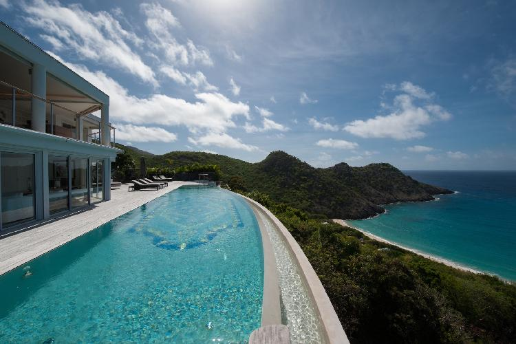nifty swimming pool of Saint Barth Villa Gouverneur Dream luxury holiday home, vacation rental