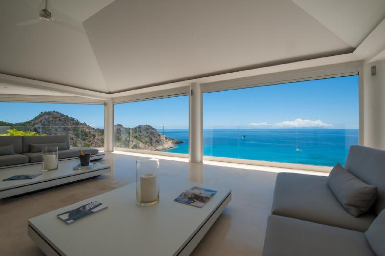 cool balcony of Saint Barth Villa Gouverneur Dream luxury holiday home, vacation rental