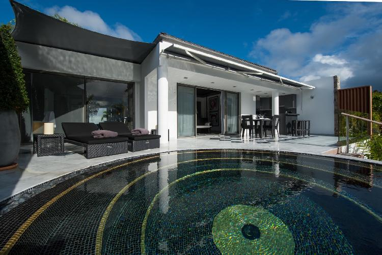 cool swimming pool of Saint Barth Villa Gouverneur Jewel luxury holiday home, vacation rental