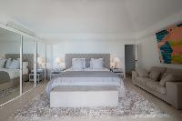 clean bedroom linens in Saint Barth Villa Gouverneur View luxury holiday home, vacation rental