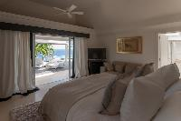 fresh bedroom linens in Saint Barth Villa Gouverneur View luxury holiday home, vacation rental