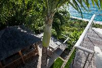 cool garden of Saint Barth Villa Gouverneur View luxury holiday home, vacation rental