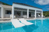 beautiful pool of Saint Barth Villa Gouverneur View luxury holiday home, vacation rental