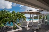 cool lawn of Saint Barth Villa Gouverneur View luxury holiday home, vacation rental
