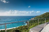 cool balcony of Saint Barth Villa Gouverneur View luxury holiday home, vacation rental