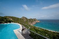 cool swimming pool of Saint Barth Villa Gouverneur View luxury holiday home, vacation rental