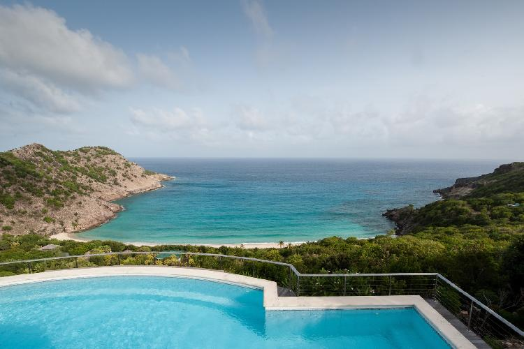 marvelous sea view from Saint Barth Villa Gouverneur View luxury holiday home, vacation rental