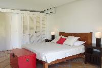fresh bedroom linens in Saint Barth Villa La Colline luxury holiday home, vacation rental