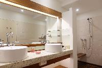 clean bathroom in Saint Barth Villa La Colline luxury holiday home, vacation rental