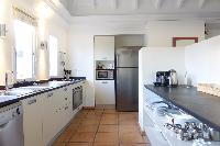 cool kitchen of Saint Barth Villa La Colline luxury holiday home, vacation rental