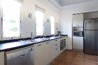 modern kitchen appliances in Saint Barth Villa La Colline luxury holiday home, vacation rental
