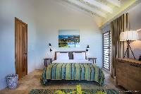 fresh bedroom linens in Saint Barth Villa Yellow Bird luxury holiday home, vacation rental