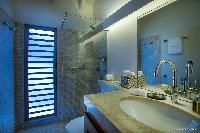 clean bathroom in Saint Barth Villa Yellow Bird luxury holiday home, vacation rental