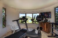 cool gym of Saint Barth Villa Yellow Bird luxury holiday home, vacation rental