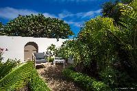 lovely garden of Saint Barth Villa Yellow Bird luxury holiday home, vacation rental