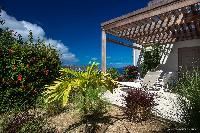 lush garden of Saint Barth Villa Yellow Bird luxury holiday home, vacation rental