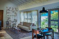 cool sitting area in Saint Barth Villa Yellow Bird luxury holiday home, vacation rental