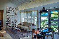 cool sitting area in Saint Barth Villa Yellow Bird luxury holiday home, vacation rental
