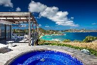 cool swimming pool of Saint Barth Villa Yellow Bird luxury holiday home, vacation rental